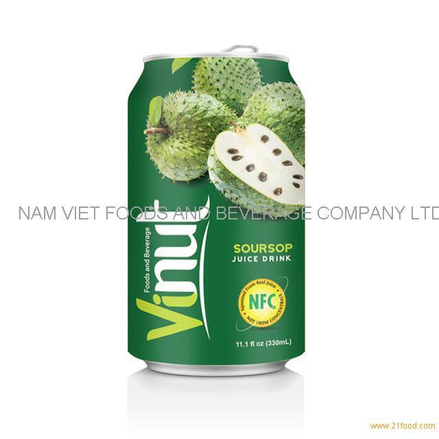 330ml Canned Fruit Juice Soursop Juice Drink Supplier