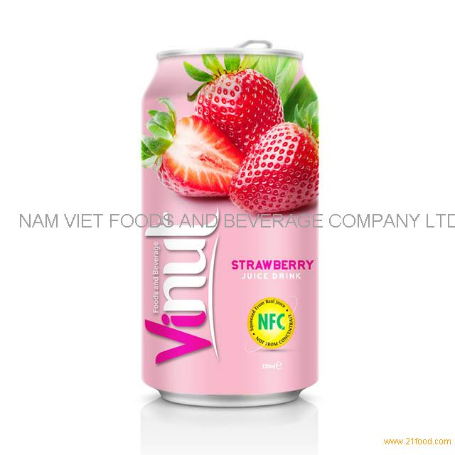 330ml Canned Fruit Juice Strawberry Juice Drink Supplier