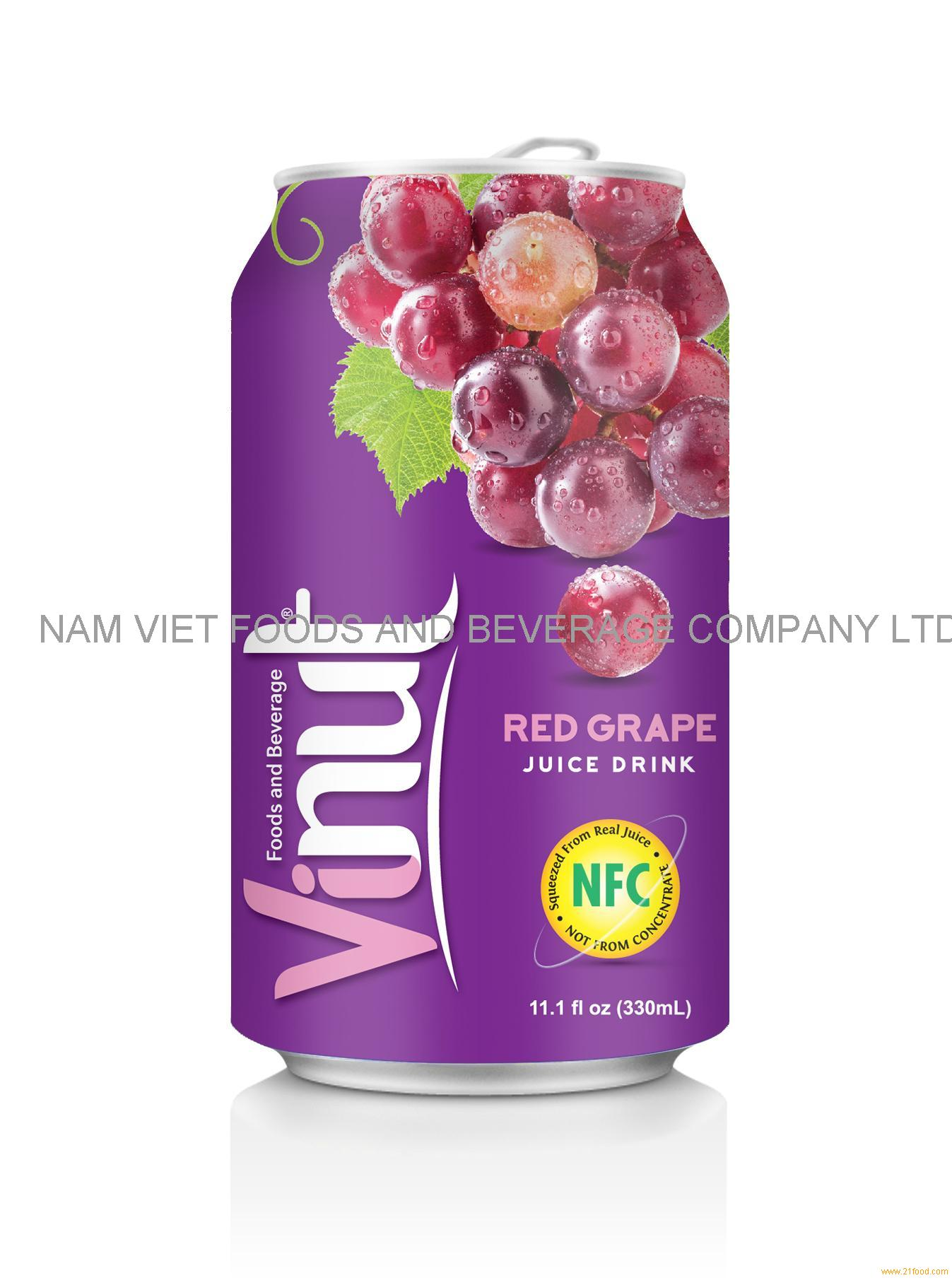 330ml Canned Fruit Juice Grape Juice Drink Supplier
