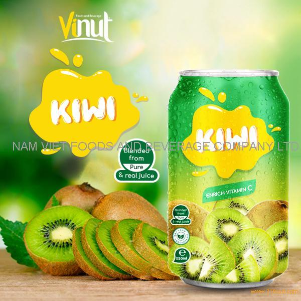 330ml Canned Real Kiwi Juice Drink