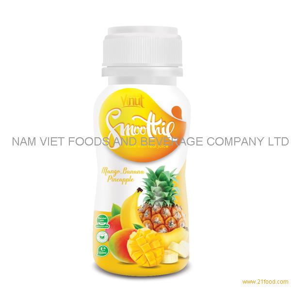 150ml Bottle Smoothie Juice - Mango. Banana and Pineapple Juice