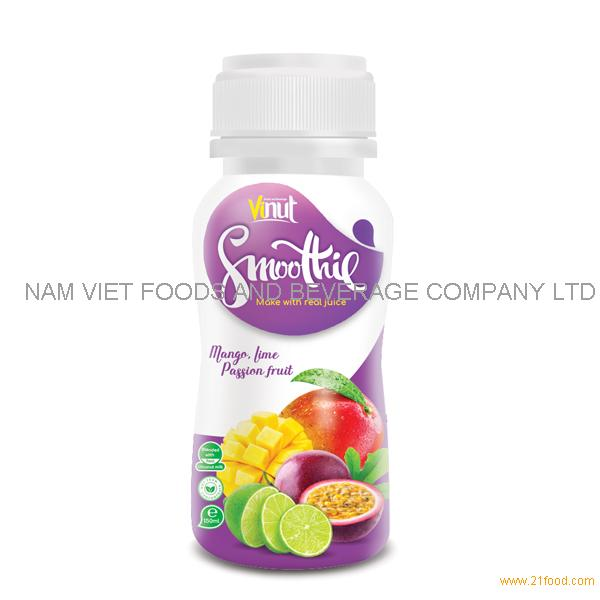 150ml Bottle Smoothie Juice - Mango. Lime and Passion Fruit