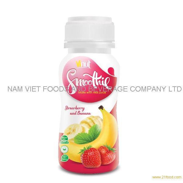 150ml Bottle Smoothie Juice - Strawberry and Banana