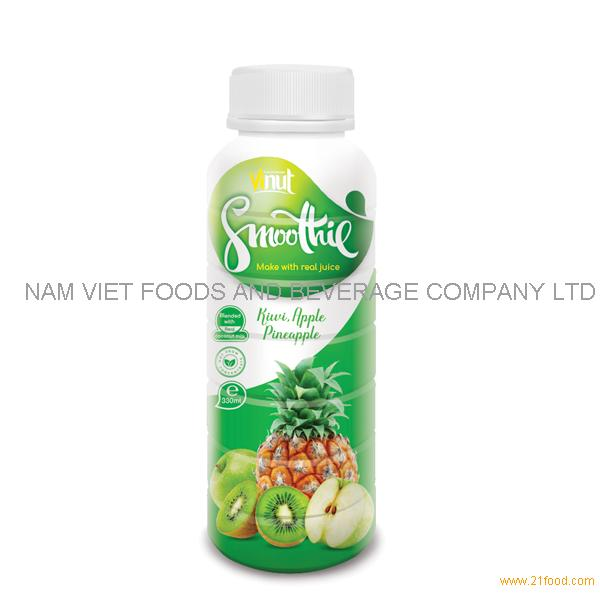 330ml Kiwi. Apple Pineapple fruit Smoothie Juice Supplier