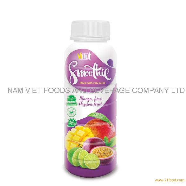 330ml Mango. Lime and Passion fruit Smoothie Juice Supplier