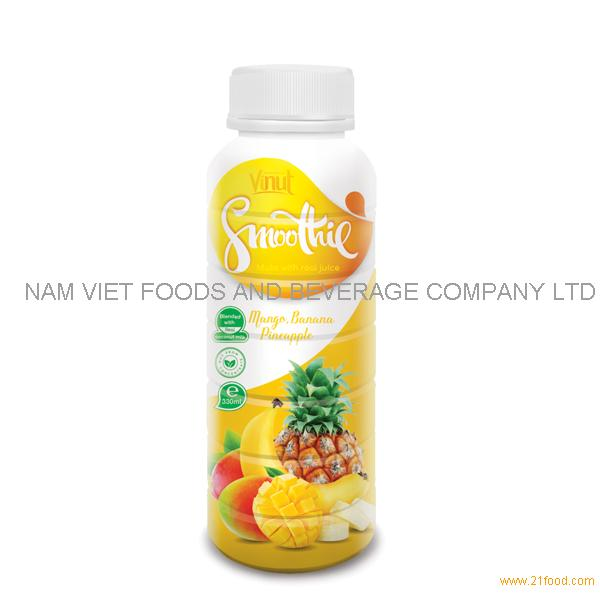 330ml Pineapple. Banana and Mango Fruit Smoothie Juice Supplier