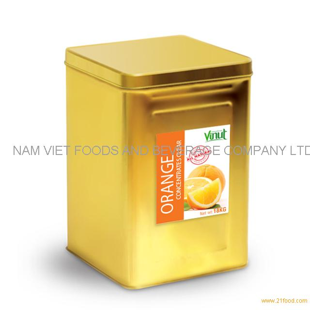 18kg Box Orange Juice Concentrate