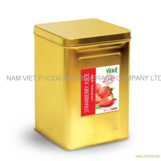 18kg Box Strawbery Juice Concentrate 65 Brix