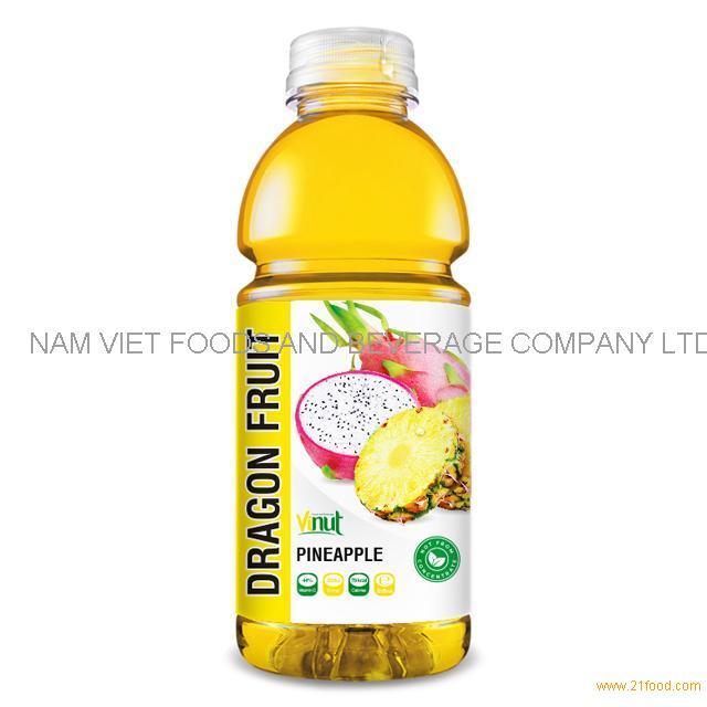 525ml Bottle Dragon Fruit Juice with Pineapple Drink