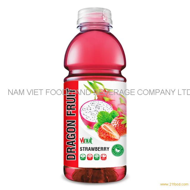 525ml Bottle Dragon Fruit Juice with Strawberry Drink