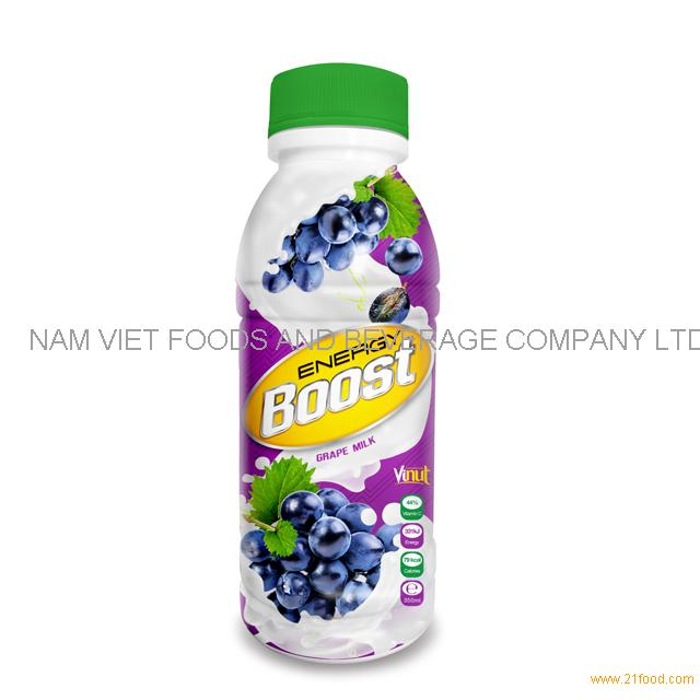 350ml Bottle Energy Boost Grape Milk Drink