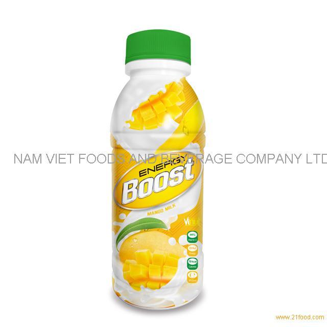 350ml Bottle Energy Boost Mango Milk Drink
