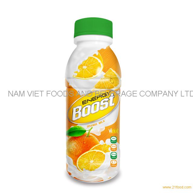 350ml Bottle Energy Boost Orange Milk Drink