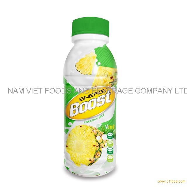 350ml Bottle Energy Boost Pineapple Milk Drink