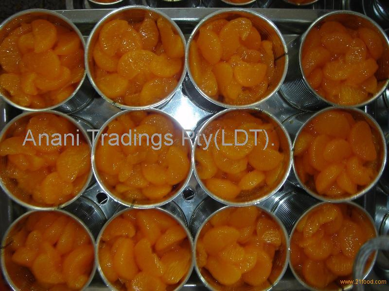 canned mandarin orange segment