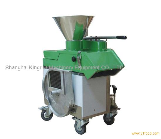 Vertical type roots vegetable cutting machine