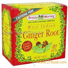 Ginger tea with honey 6gx12sachets/box Gingembre pur au miel