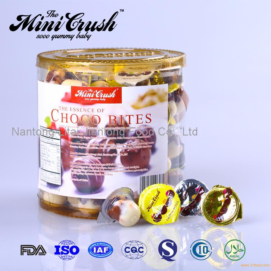Children Snack Cup Chocolates And Sweets Mini Chocolate Cup With Biscuit Ball