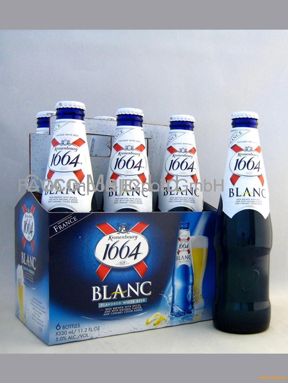 French Origin Kronenbourg 1664 blanc beer in blue 25cl and 33cl Bottles