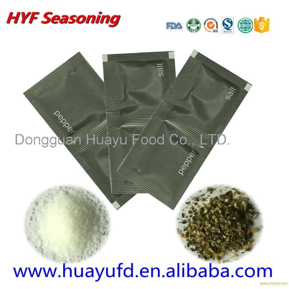 Pepper salt sachet for condiment packet