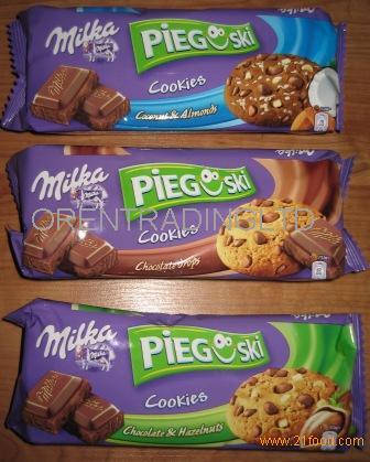 Milka pieguski cookies with chocolate for sale