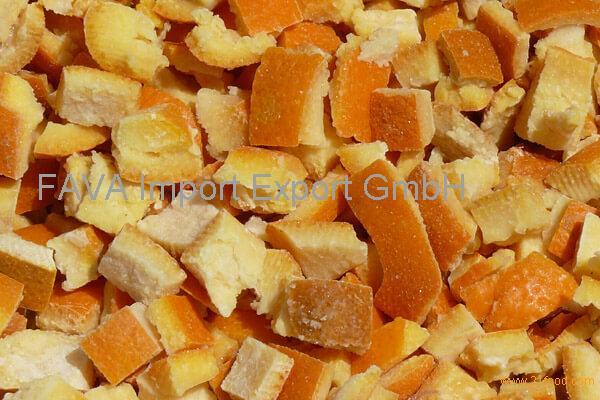 Frozen Orange peel,orange peel with orange color