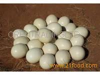 Ostrich Eggs and Quails Eggs