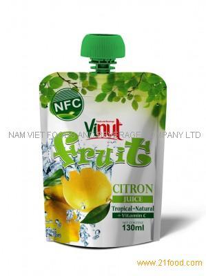 130ml Tropical Citron fruit Juice Drink Bag