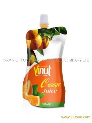 Manufacturer orange juice in Bag 100ml