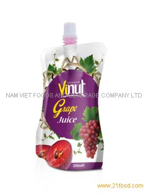 Distributor grape juice in Bag 100ml