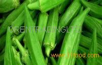 Green Fresh Frozen Okra