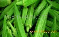 Green Fresh Frozen Okra