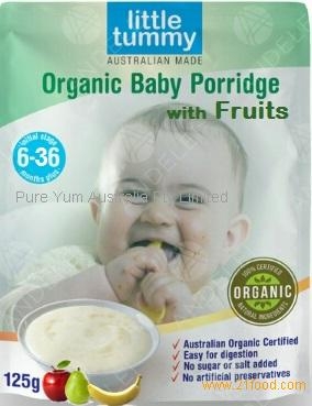 Organic Baby Rice Porridge with Fruit