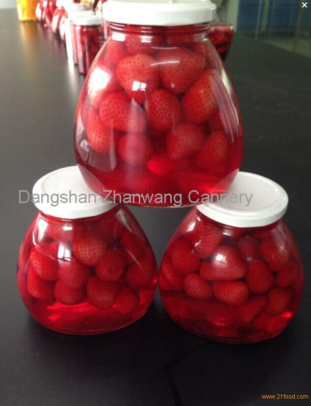 Canned strawberry in jar/in bottle/in glass