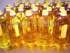 Sunflower Oil in the bottles/