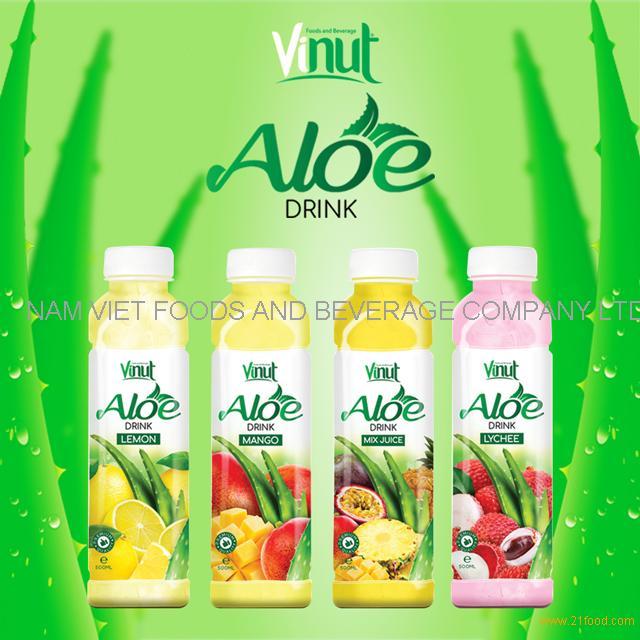 VINUT 500ml Plastic Bottle With QS Original flavor Aloe vera drink