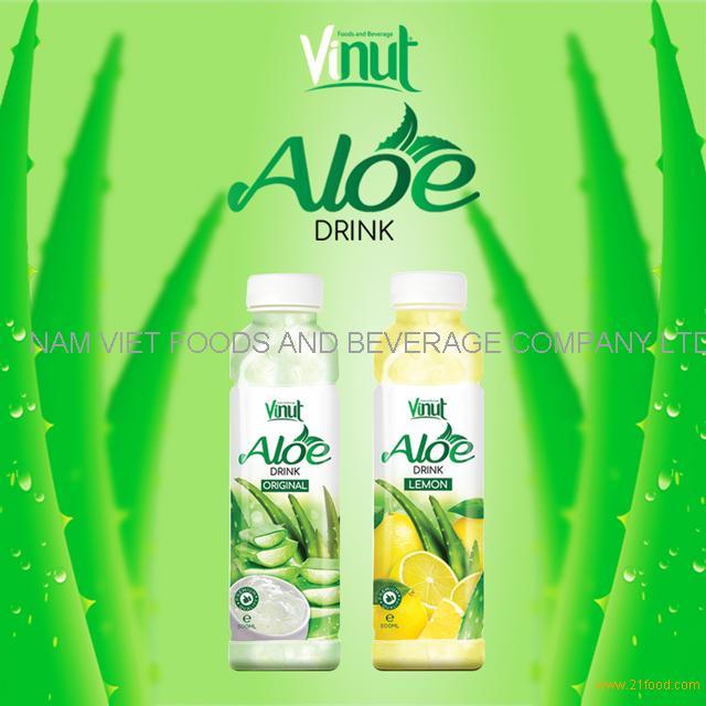 2018 HOT SALE VINUT 500ml original flavor aloe vera drink