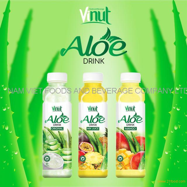 High quality VINUT 500ml different flavors aloe vera drink original