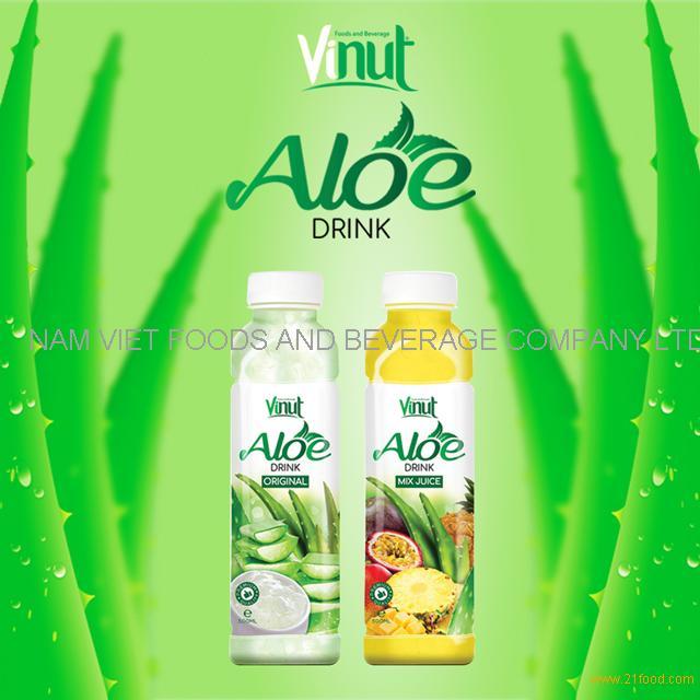 VINUT Hot Product 100% Fresh 500ml Original Flavor Aloe Vera Soft Drink