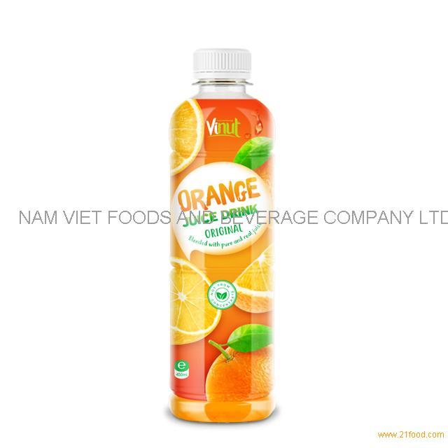 450ml Bottle Original Orange Juice Drink