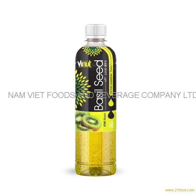 450ml Basil seed drink with KIWI flavor