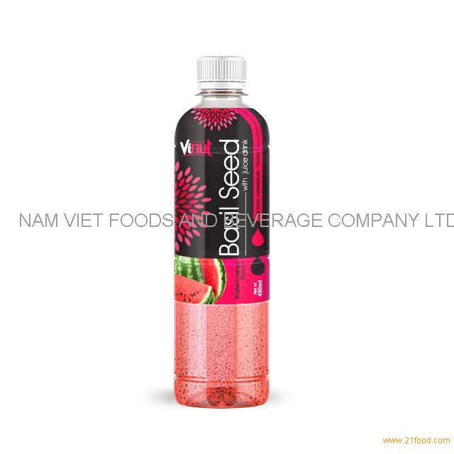 450ml Basil seed drink with Watermelon flavor