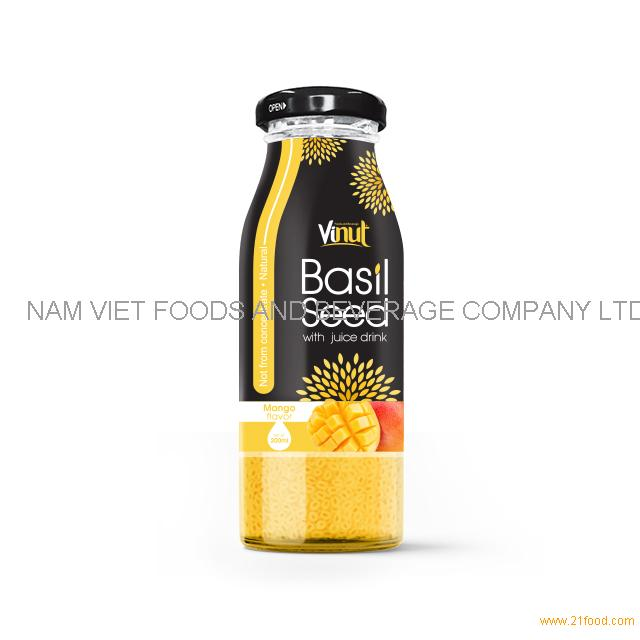 200ml Glass Bottle Basil seed with Mango flavor