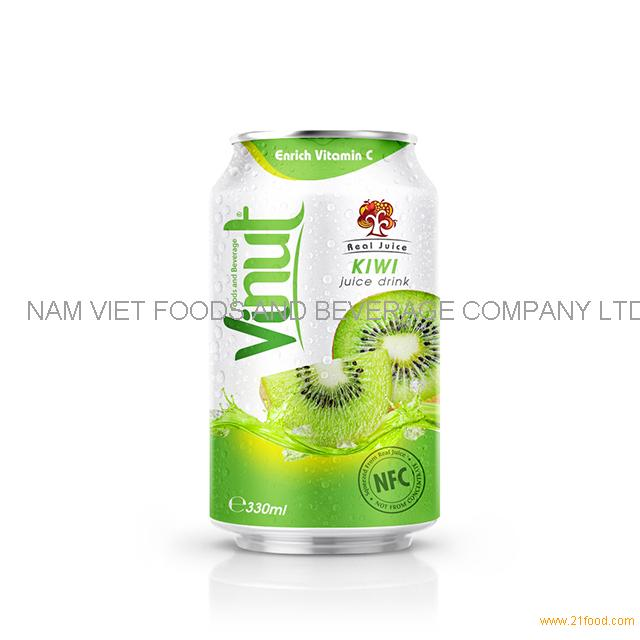 330ml Real Juice Cans Kiwi Juice Drink