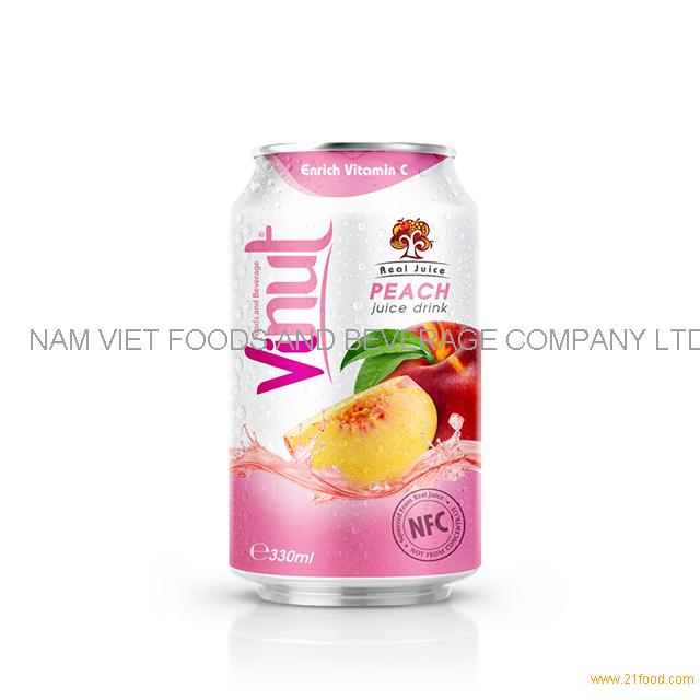 330ml Real Juice Cans Peach Juice Drink