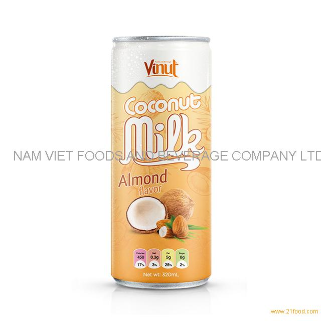 320ml Cans Coconut milk with Almond flavor