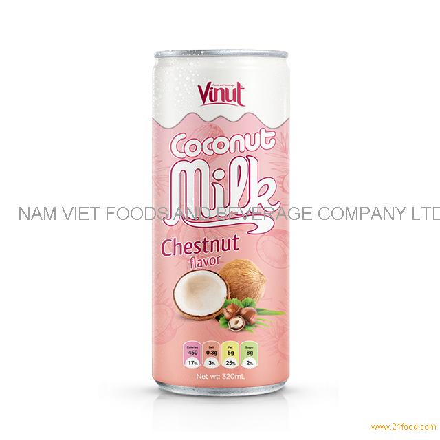 320ml Cans Coconut milk with Chestnut flavor