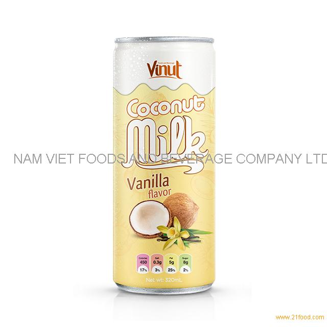 320ml Cans Coconut milk with Vanilla flavor