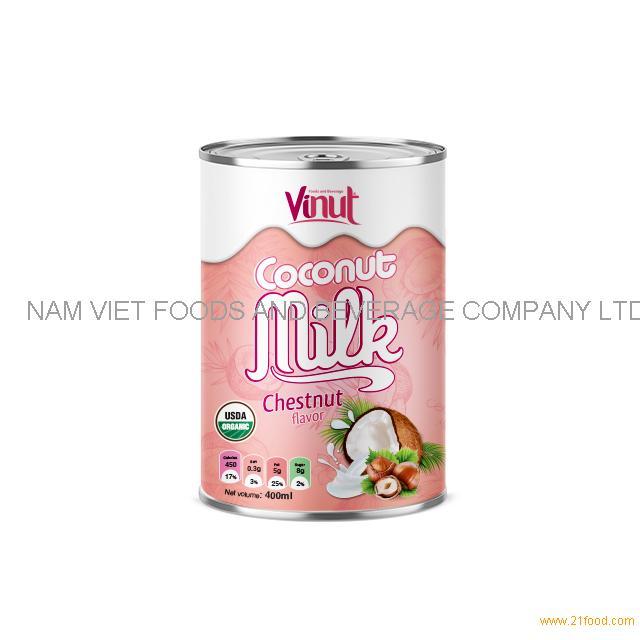 400ml USDA Organic Coconut Milk with Chestnut flavour