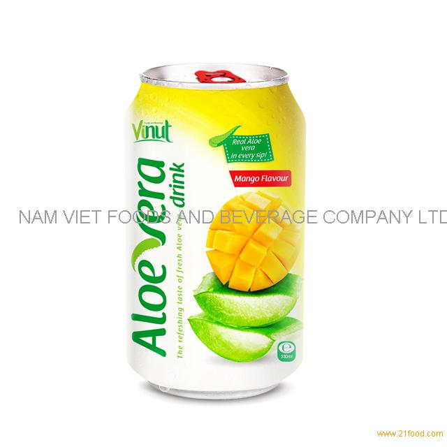 330ml Cans Original taste Aloe vera drink with Mango natural flavour(pack of 24)